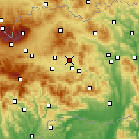 Nearby Forecast Locations - Spišské Podhradie - Carta