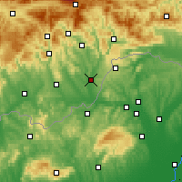 Nearby Forecast Locations - Tornaľa - Carta