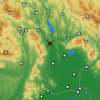 Nearby Forecast Locations - Vranov nad Topľou - Carta