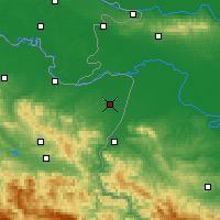 Nearby Forecast Locations - Bijeljina - Carta