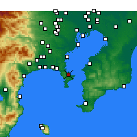 Nearby Forecast Locations - Yokosuka - Carta