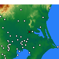 Nearby Forecast Locations - Tsukuba - Carta