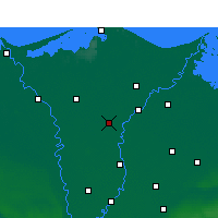 Nearby Forecast Locations - El-Mahalla El-Kubra - Carta