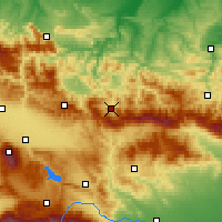 Nearby Forecast Locations - Etropole - Carta