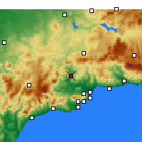 Nearby Forecast Locations - Álora - Carta