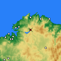 Nearby Forecast Locations - As Pontes de García Rodríguez - Carta