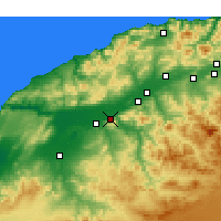 Nearby Forecast Locations - Oued Rhiou - Carta