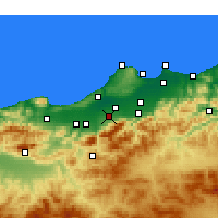 Nearby Forecast Locations - Béni Mered - Carta