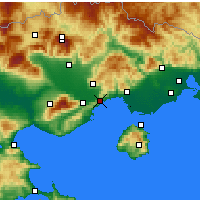 Nearby Forecast Locations - Kavala - Carta