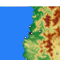 Nearby Forecast Locations - Concón - Carta