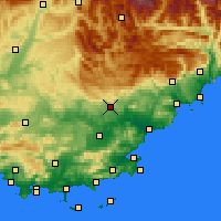 Nearby Forecast Locations - Draguignan - Carta
