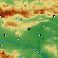 Nearby Forecast Locations - Stara Zagora - Carta