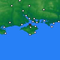 Nearby Forecast Locations - Cowes - Carta