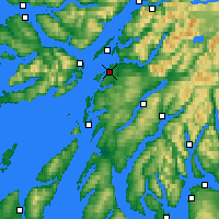 Nearby Forecast Locations - Oban - Carta