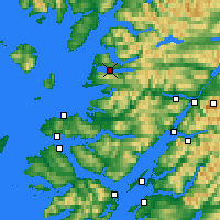 Nearby Forecast Locations - Loch Morar - Carta