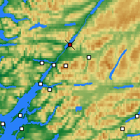 Nearby Forecast Locations - Loch Lochy - Carta