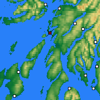 Nearby Forecast Locations - Loch Fyne - Carta