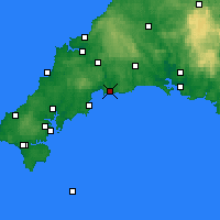 Nearby Forecast Locations - Fowey - Carta