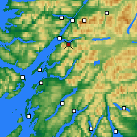Nearby Forecast Locations - Ballachulish - Carta