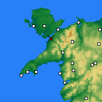 Nearby Forecast Locations - Caernarfon - Carta