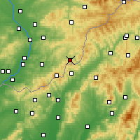 Nearby Forecast Locations - Štítná nad Vláří-Popov - Carta