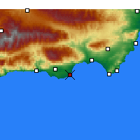 Nearby Forecast Locations - Roquetas de Mar - Carta