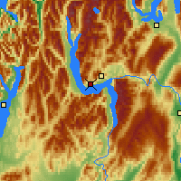 Nearby Forecast Locations - Lake Wakatipu - Carta