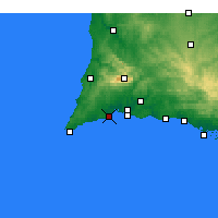 Nearby Forecast Locations - Lagos - Carta