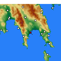 Nearby Forecast Locations - Gytheio - Carta