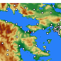 Nearby Forecast Locations - Temple of Isthmia - Carta