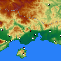 Nearby Forecast Locations - Xanthi - Carta