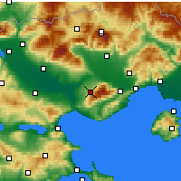 Nearby Forecast Locations - Rodolivos - Carta