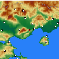 Nearby Forecast Locations - Eleftheroupoli - Carta