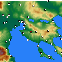 Nearby Forecast Locations - Vasilika - Carta