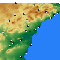 Nearby Forecast Locations - Elche - Carta