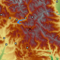 Nearby Forecast Locations - Valle de l'Ubaye - Carta