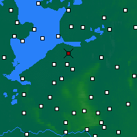 Nearby Forecast Locations - Dronten - Carta