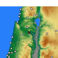 Nearby Forecast Locations - Kfar Yehezkel - Carta