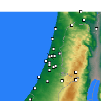 Nearby Forecast Locations - Ramat Gan - Carta