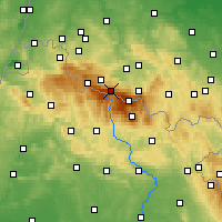 Nearby Forecast Locations - Špindlerův Mlýn - Carta