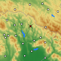 Nearby Forecast Locations - Zbudská Belá - Carta