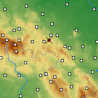 Nearby Forecast Locations - Wałbrzych - Carta