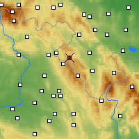 Nearby Forecast Locations - Duszniki-Zdrój - Carta