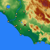 Nearby Forecast Locations - Velletri - Carta