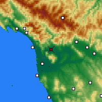 Nearby Forecast Locations - Lucca - Carta