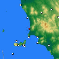 Nearby Forecast Locations - San Vincenzo - Carta