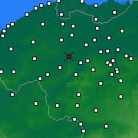 Nearby Forecast Locations - Deinze - Carta