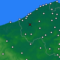 Nearby Forecast Locations - Diksmuide - Carta