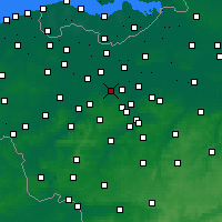 Nearby Forecast Locations - Wetteren - Carta