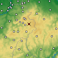 Nearby Forecast Locations - Bütgenbach - Carta